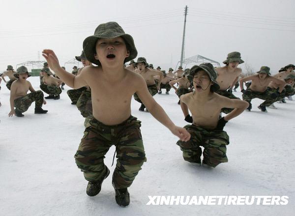 """韩国""""冷酷""""的军训[组图]"""