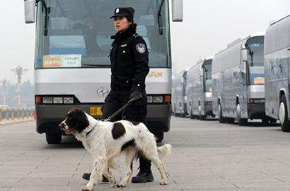 防爆犬兩會現場保安全