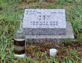 高清:祭拜韓國惟一的中國人民志願軍墓地