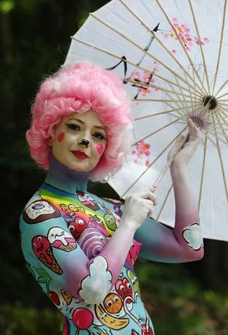 奇葩朵朵開:2013世界人體彩繪節盛況