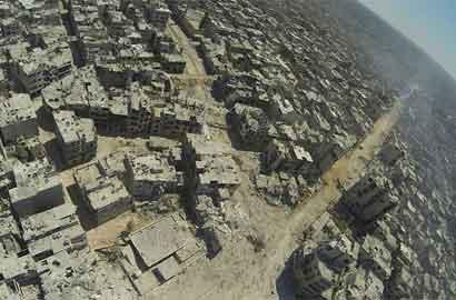 """敘利亞城市被戰火摧毀變""""廢城"""""""