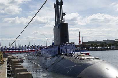 """美國最新攻擊核潛艇""""明尼蘇達""""號正式服役"""