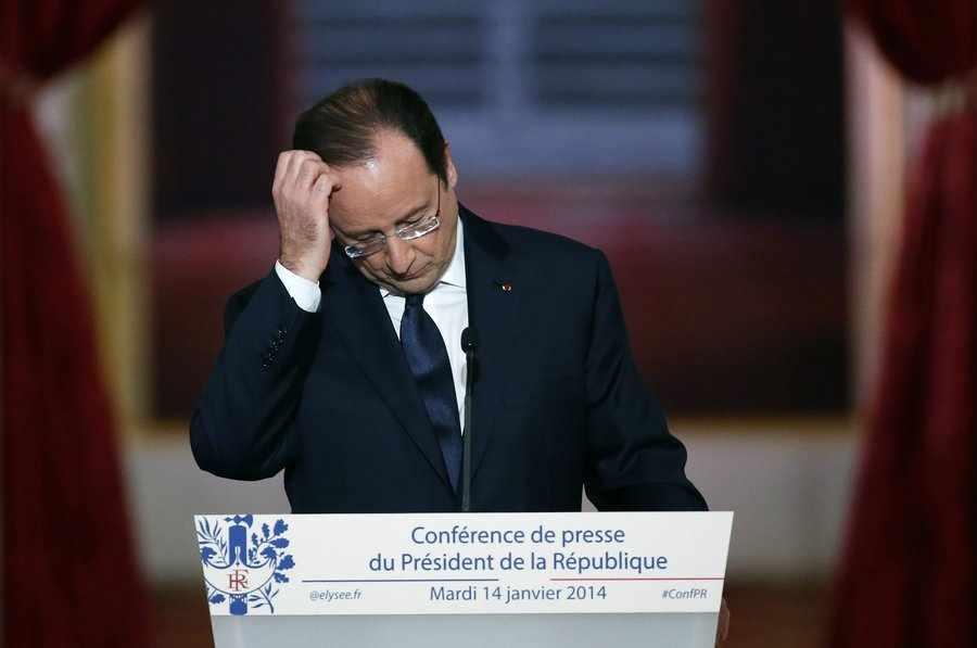 """法國總統奧朗德承認感情生活出現問題:經歷""""痛苦時刻"""""""