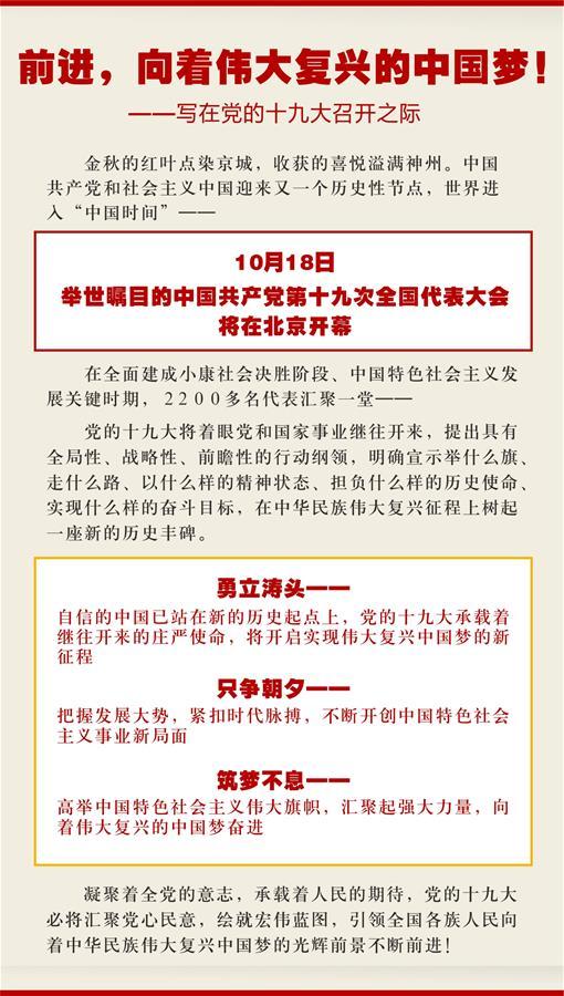 (新华全媒头条·图文互动)(1)前进,向着伟大复兴的中国梦!——写在党的十九大召开之际