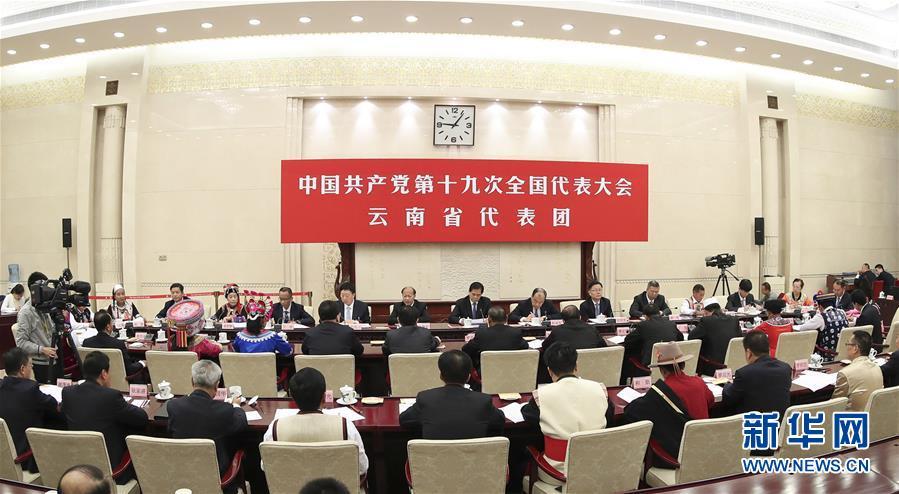 (十九大)(3)代表团讨论向中外记者开放