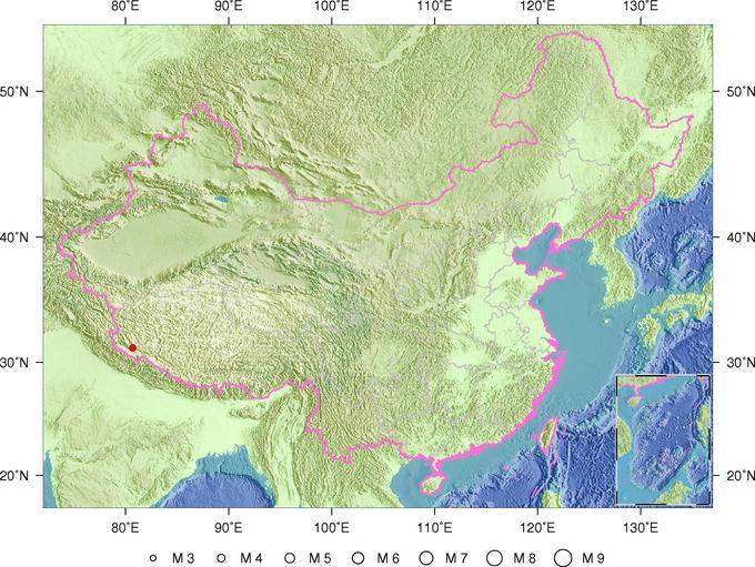 2月14日8时44分西藏自治区阿里地区噶尔县发生3.5级地震