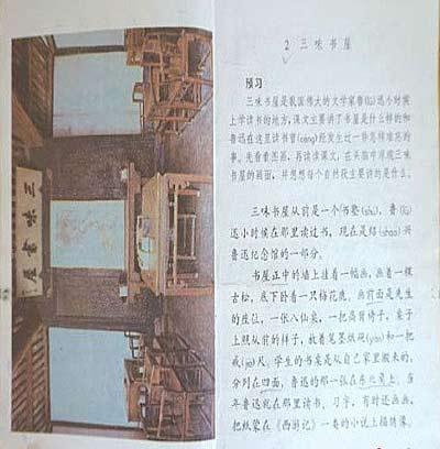 毛泽东、鲁迅、雷锋、黄继光等革命领袖和英雄人物的课文从中小学教
