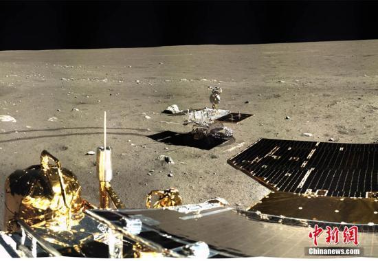 """中国""""嫦娥三号""""着陆区获4项月球地理实体命名"""