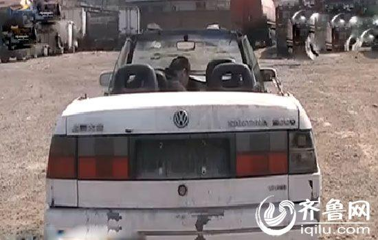 废车削去车顶 改装成 敞篷跑车高清图片