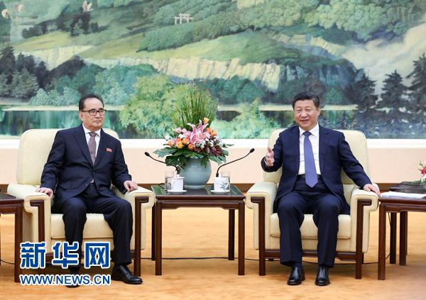 习近平会见朝鲜劳动党代表团
