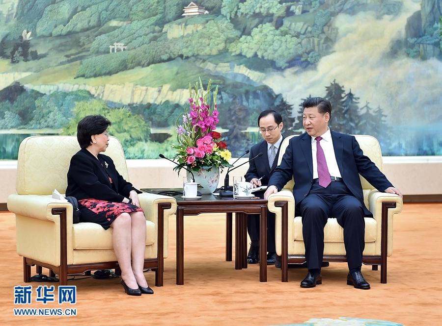 习近平会见世界卫生组织总干事陈冯富珍