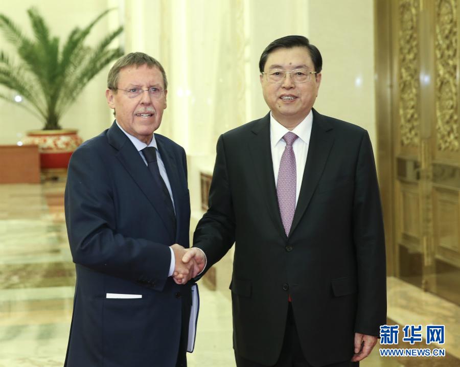 12月5日,全国人大常委会委员长张德江在北京人民大会堂与比利时联邦众议长布拉克举行会谈。 新华社记者庞兴雷摄