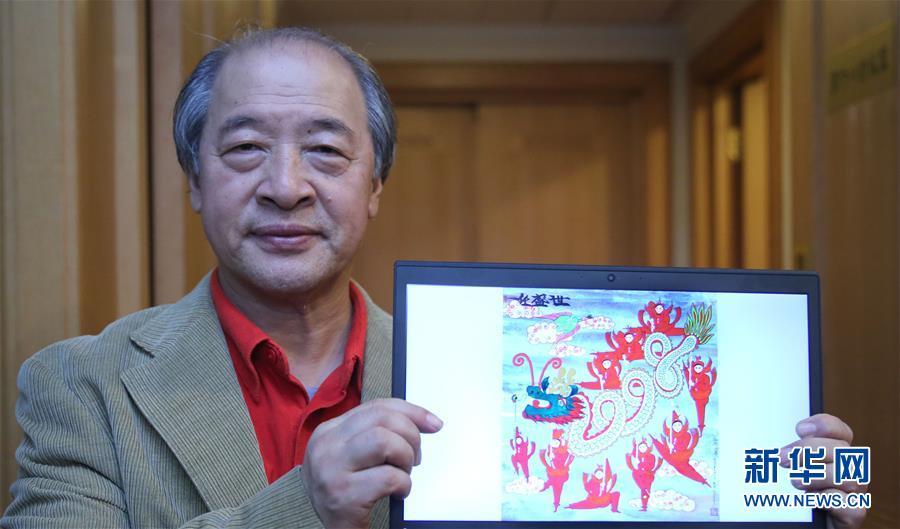 (两会・图片故事)(1)全国政协委员王书平:教农民画画的美协主席