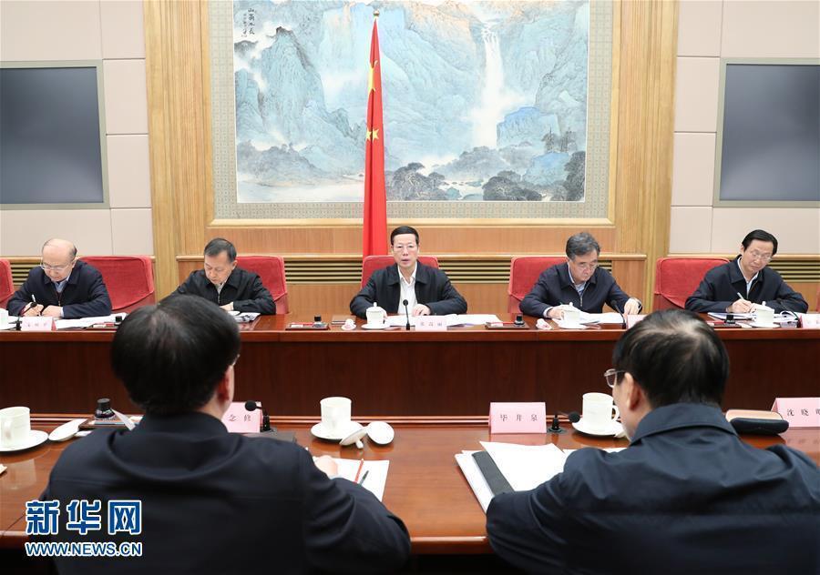 1月3日,中共中央政治局常委、国务院副总理、国务院食品安全委员会主任张高丽在北京主持召开国务院食品安全委员会第四次全体会议并讲话。新华社记者 王晔 摄