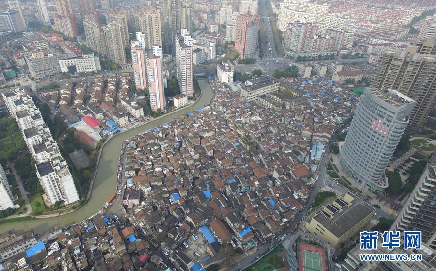 (社會)(3)航拍上海『最大的棚戶區』之一——張橋