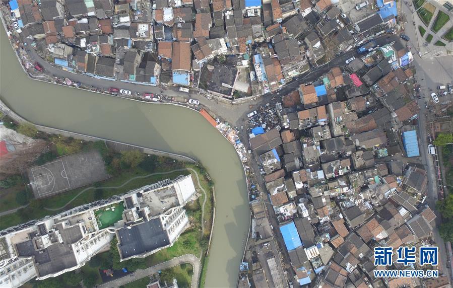 (社會)(6)航拍上海『最大的棚戶區』之一——張橋