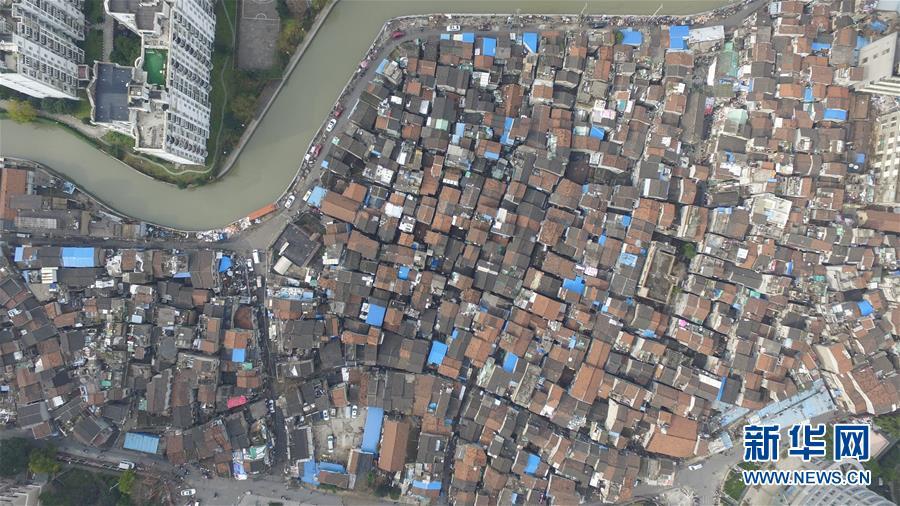 (社會)(7)航拍上海『最大的棚戶區』之一——張橋