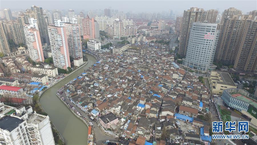 (社會)(8)航拍上海『最大的棚戶區』之一——張橋