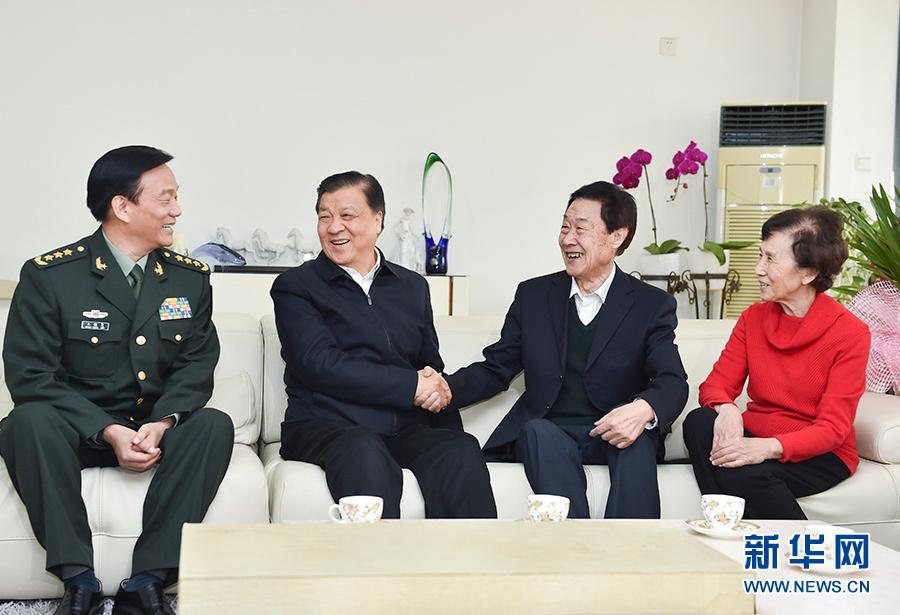 刘云山看望著名科技专家