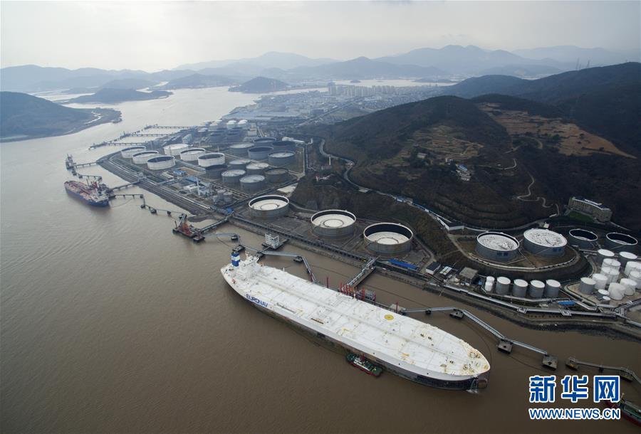 (社会)(1)全球最大船停泊宁波舟山港