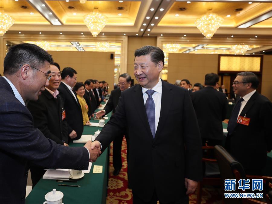 (两会)习近平看望参加政协会议的民进农工党九三学社委员