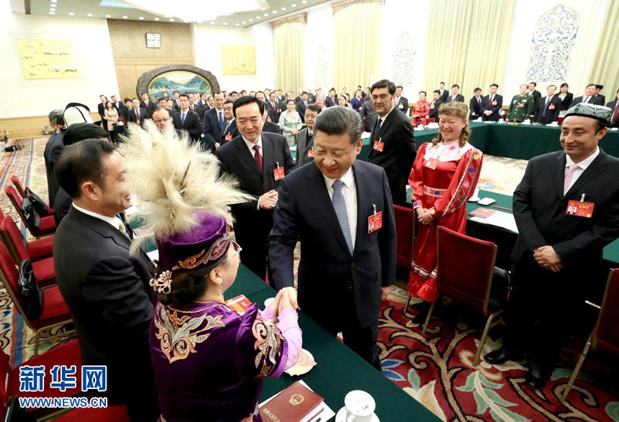 党和国家领导人出席两会少数民族代表委员茶话会 - 小花新新 -