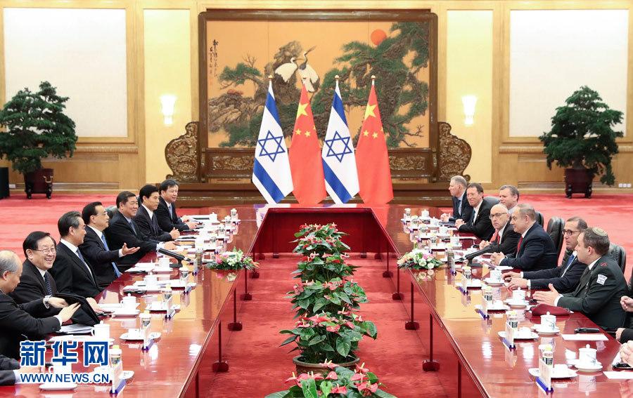 3月20日,國務院總理李克強在北京人民大會堂同來華進行正式訪問的以色列總理內塔尼亞胡舉行會談。 新華社記者龐興雷攝
