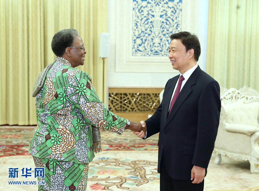 李源潮会见纳米比亚副总理兼外长