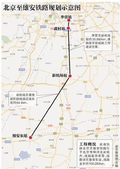 北京到雄安新区铁路预计2019年运营 长约100公里