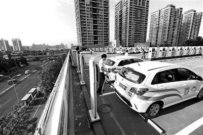 北京CBD建首座空中充电站 每天可充500余辆新能源车
