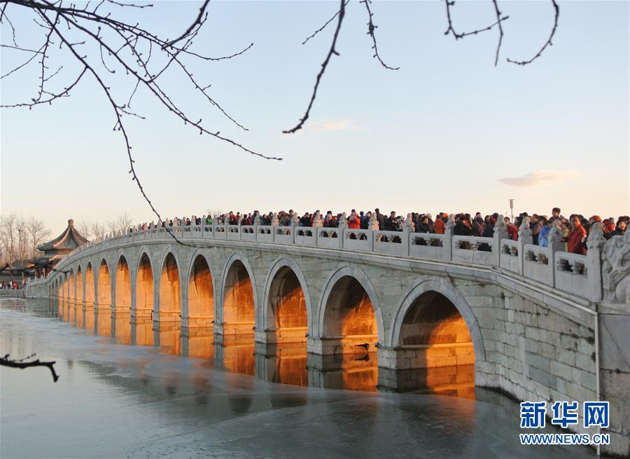 """(环境)(2)北京颐和园十七孔桥""""金光穿洞"""""""