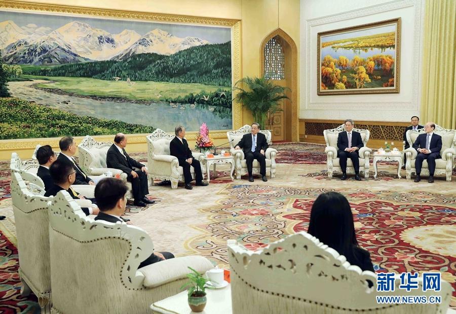 俞正声会见新党大陆访问团