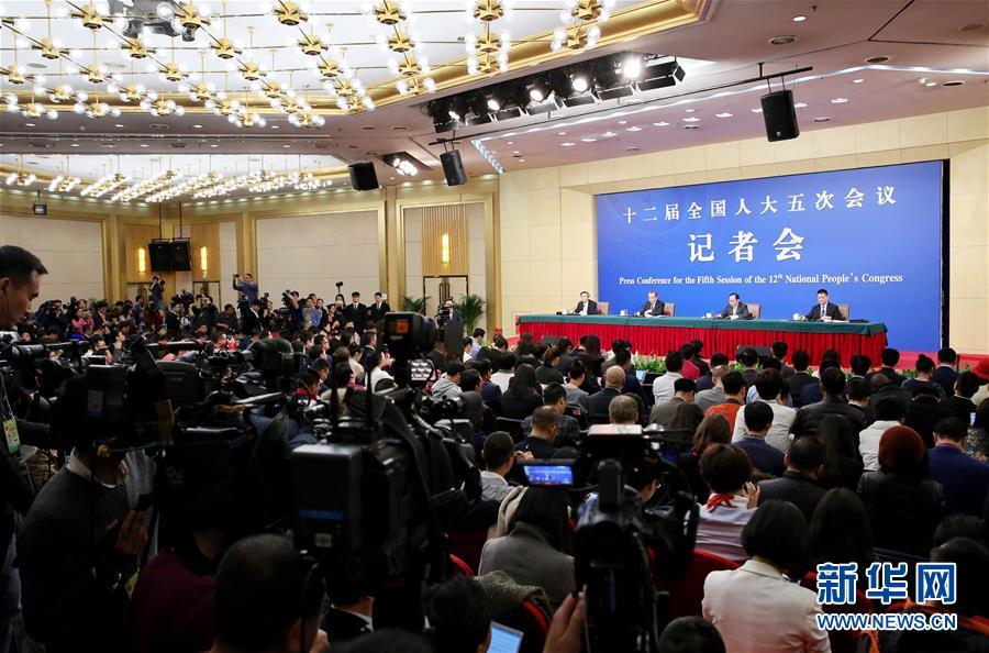 """(两会)(5)外交部部长王毅就""""中国的外交政策和对外关系""""答记者问"""