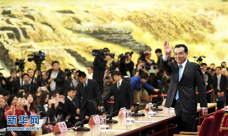 (两会·总理记者见面·XHDW)(11)李克强总理与中外记者见面