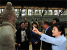 樸槿惠參觀兵馬俑