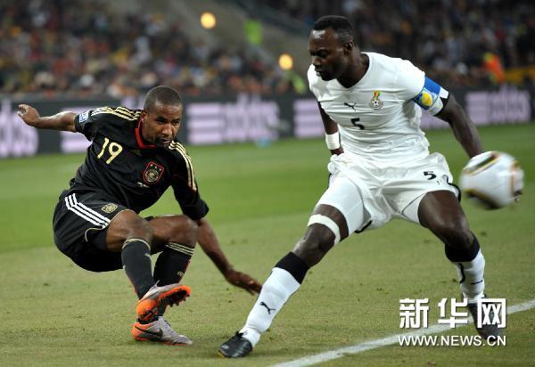 厄齐尔远射破门 德国1-0加纳[组图]