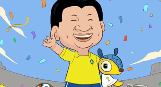 網友原創萌漫《大大與足球》