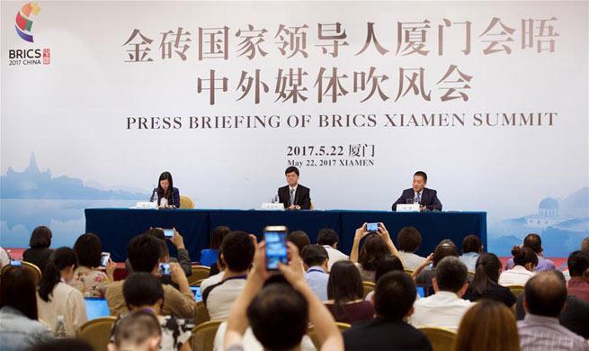 Press briefing of BRICS Xiamen Summit held in SE China