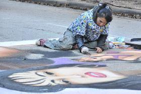 休斯敦举办街画节为听障儿童筹款