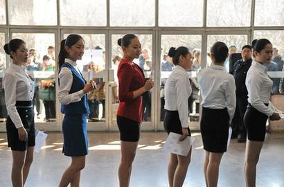 济南举行空乘专业招生考试