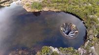 地球破洞 湖水涌入