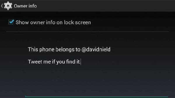 Display Owner Info on Your Android Device in Case It Gets Lost