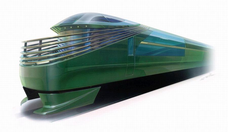 豪华卧铺列车的外观示意图(网页截图)-日本将推出豪华列车 最高级