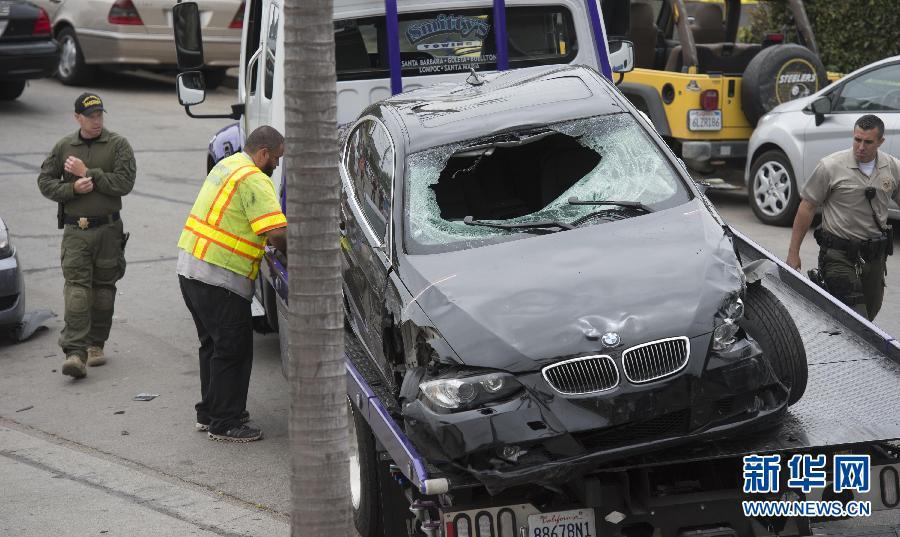 (国际)(6)美国南加州圣巴巴拉县发生枪击事件7死7伤