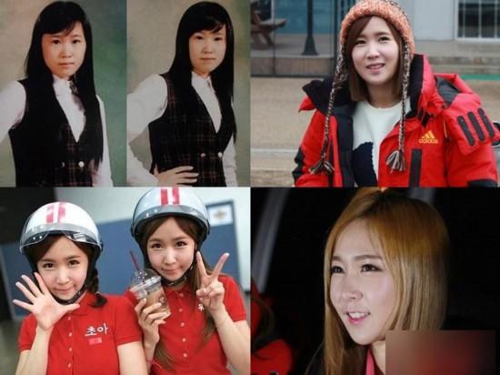 曝韩国女星整容变脸对比照