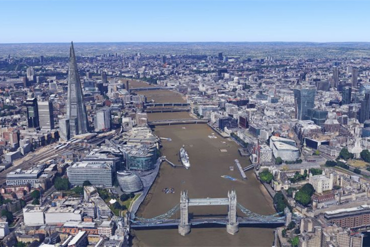 英国伦敦谷歌地图使用3D技术 重现首都风光