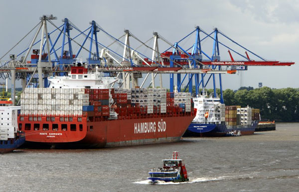 乌克兰危机影响德国商船运输 港口货物吞吐量减少(图)