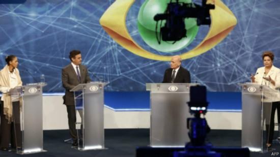 巴西举行总统选举电视辩论 罗塞夫与席尔瓦斗法
