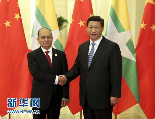 习近平会见缅甸总统吴登盛