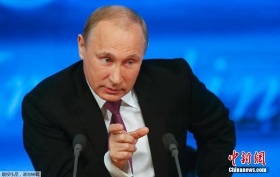 """俄总统普京""""直播连线""""称将提高俄经济水平"""